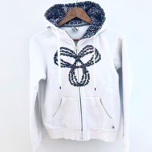 TNA Hoodie Aritzia- white/rainbow size medium